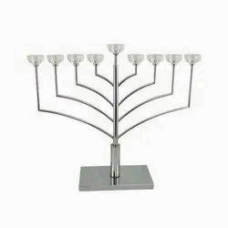 Classic Hannukah Menorah Hebrew