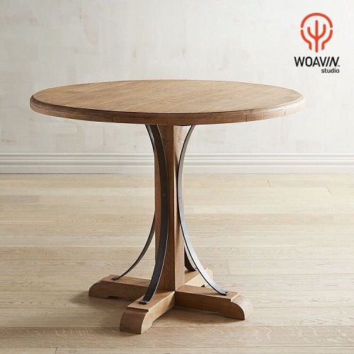 Master Crafted Heavy Duty Solid Wood Indian Jodhpur Style Round