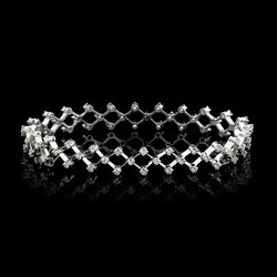 Italian Cuff Diamonds Bracelets