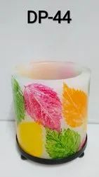 Painted Hurricane Candle