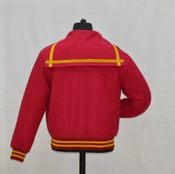 Plain Letterman Jacket  with Sailor Collar