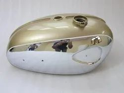 New Bsa A65 Thunderbolt,Lightning, Royal Star Golden Painted Chrome Petrol Tank