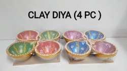 Clay Diya (4 Pc)