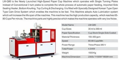 Paper Cup Machines