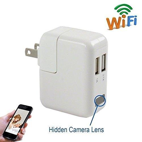 Full HD 1080P USB Wall Charger Mini Spy Motion Hidden Camera Power Adapter BR