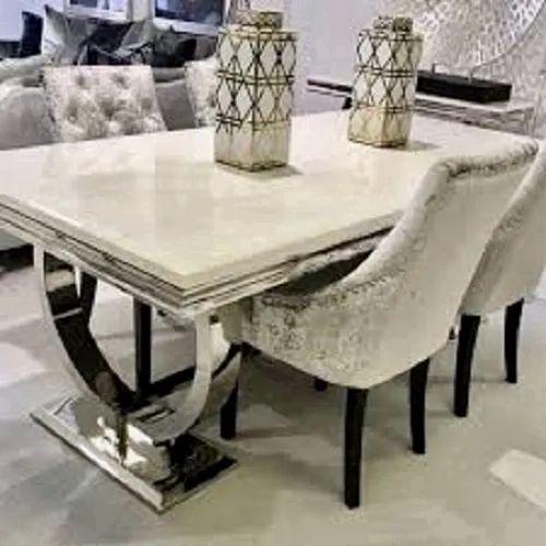 K K Furniture Marble Dining Table Set Rs 64000 Set K K Furnitures Id 20879448312