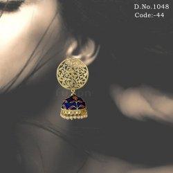 Designer Filigree Tops with Meenakari Pearl Jhumki Earring