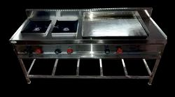Two Burner Cooking Range with Dosa Plate