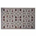 White Beautiful Inlay Design Dining Table Top