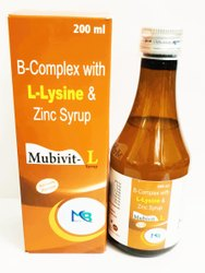 B-complex + Lysine Liquid Form Vitamin B Complex Syrup, Grade Standard: Medicine Grade, Packaging Size: 200 Ml