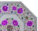 Decorative Marble Corner Table Top Inlay Pietra Dura Handmade Work