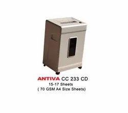Cross Cut Paper Shredder-Antiva CC 233 CD