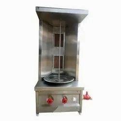 OM VINAYAKA INDUSTRIES Gas Shawarma Machine-Table Top- Double Burner, Two