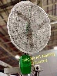 Uv Stabilized Hdpe Plastic Fan Finger Protection Safety Mesh Gaurd, Size: 36