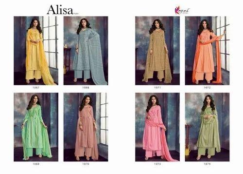650c1931be Kesari Trendz Alisa Vol 9 Jam Satin Salwar Suits at Rs 675 /pack ...