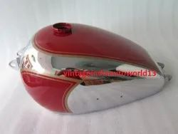 New 1950 BSA A7 Plunger Model Chrome And Red Painted Fuel Petrol Gas Tank