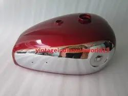New Bsa A7 A10 Cherry Painted Chrome Petrol Tank