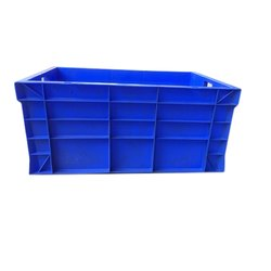 Blue Rectangular Plastic Jumbo Crate, Size: 650 X 450 X 315 Mm, For Storage