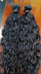 Natural Hair King Indian Human Double Weft Wavy Hair, for Personal