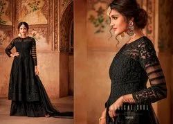 Black Colour Heavy Dress