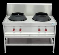 Synergy Technics SS304 Single Burner Chinese Cooking Range, for Commercial