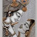 Ceramic Radhe Krishna Poster Tiles, Thickness: 5-10 Mm