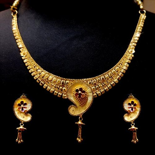 2a263e5782a Gold Necklace Set Design With Weight - The Best Price Necklace In 2018