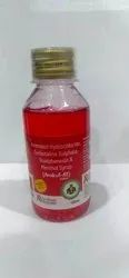 Ambroxol Hydrochloride, Terbutaline Sulphate, Guaiphenesin & Menthol Syrup
