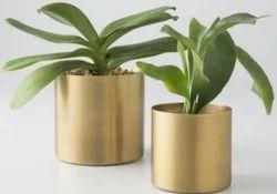 Plain Brass Flower Pot Plant Stand Rack Garden Indoor