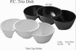 Polycarbonate Trio Dish