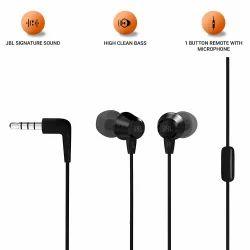 Mobile Black JBL Earphones, Model Name/Number: T50
