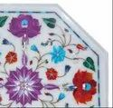 Home Decoration White Marble Inlay Table Top