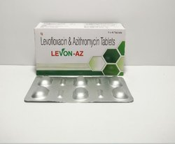 Levofloxacin Hemihydrate 250 mg and Azithromycin 250 mg Tablet