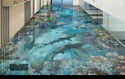3D Bathroom Floor Tiles