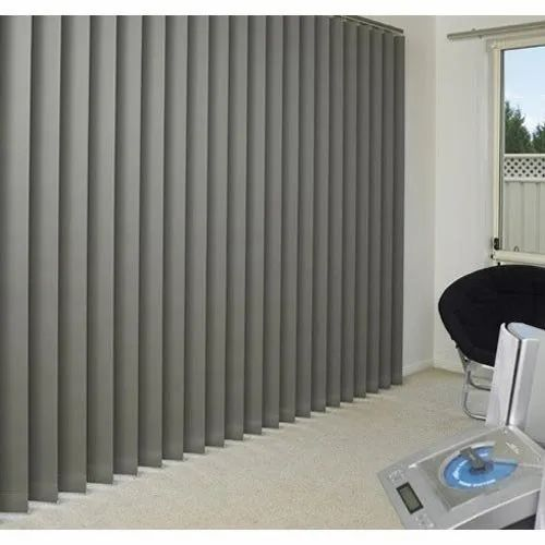 Grey PVC Vertical Window Blinds