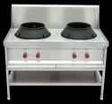Ss304 2 Two Burner Chinese Cooking Range, For Commercial