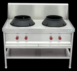 Two Burner Chinese Cooking Range