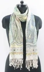 100% Rayon Casual Wear Bead Work Multi Color Ladies Stoles