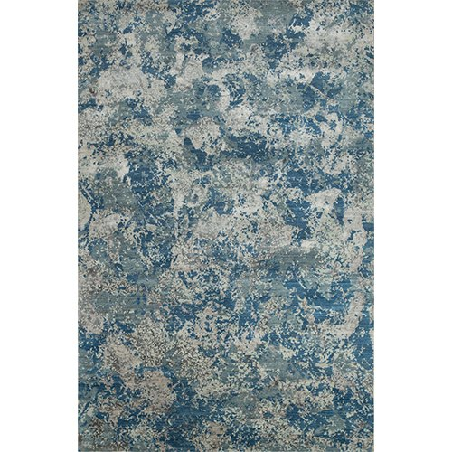 Jaipur Rugs Hand Knotted Wool and Bamboo Silk Blue Colour Carpet and Rug