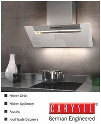 Steel And Black Baffle Carysil Modular Kitchen Chimney, Warranty: LTW, Suction Capacity (M3/HR): 1000