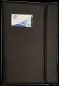 Double Magnet Button Black 3 Fold Leather Executive File Folder, Paper Size: A4