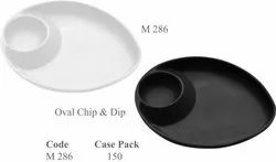 Oval Chip & Dip Serving Plate