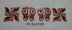 Acrylic Laxmi Feet And Swastik (FC-PS4)