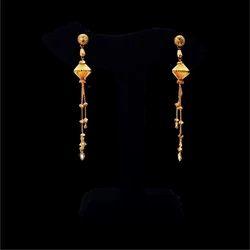 Jewels Box Female Sui Dhaga Gold Drop Earrings, Approx 4-10 gm