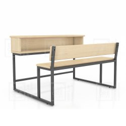 Wooden School Benches With Desk