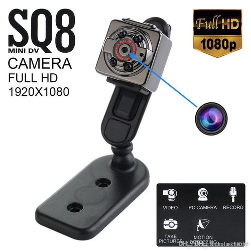 Safetynet Sq8 Full Hd 1080p 720p Small Mini Hidden Spy Camera Infrared  Night Vision Sport Dv Voice V