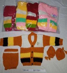 Unisex Baby Multicolor Crochet Baby Sweater
