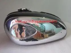 New Bsa A65 Thunderbolt Black Painted Chrome Petrol Tank (Reproduction)