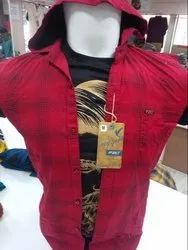 Casual Wear Cotton F20 Check Shirt With Cap