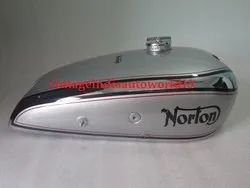 Brand New Norton Model 18 Hand Gear Chrome And Silver Painted Gas Fuel Tank 1930''''S